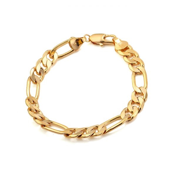New Design Bracelet Men (210*10mm) 18k Gold Plated with Environmental Copper(China (Mainland))