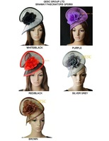Sinamay headband fascinator hat  with silk flower for for kentucky derby,ascot races,melbourne cup.