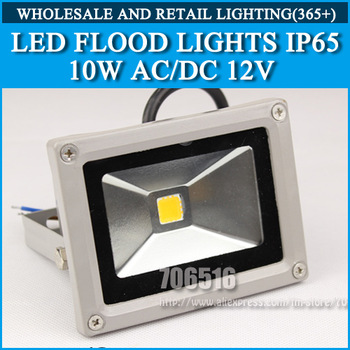 LED Flood Lights 10W AC/DC 12V IP65 800lm warm white / Cold white Free Shipping/DHL