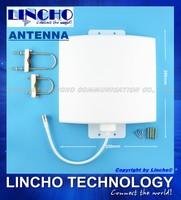 Outdoor Waterproof panel antenna 12dBi 800-2500MHz GSM 3G WIFI DCS signal repeater flat antenna