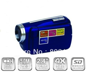 "Mini Kids DV Camcorder 12MP 4xZoom 1.8"" LCD Digital Video Camera Blue"
