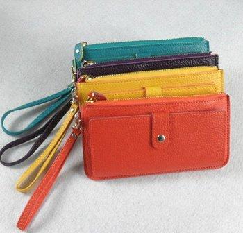 Free shipping,2014 fashion pu leather Wallet Pockets rfid Card Clutch fashionable Purse  handbags cardbags 9 colors