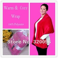 Wholesale Free Shipping Warm Soft Coral Fleece Shawl Factory Sales