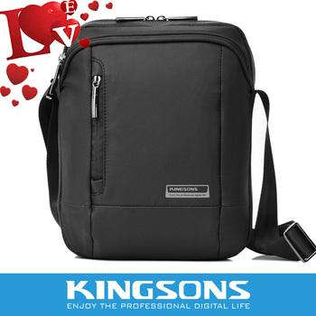 "2014 Free shipping Kingsons  nylon messenger bag high quality waterproof men   messenger bags sleeve for ipad  9.7"""