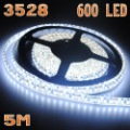 5m 12v xmas decoration waterproof Pure White smd 3528 120 leds/m flexible led strip light led ribbon