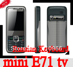 HOT mini E71 TV mobile phone dual sim dual standby quad band unlocked cell phone Russian keyboard Polish language(China (Mainland))