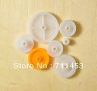 5 packs 6 kinds Plastic belt Pulley Group Gear wheel Synchronization Round DIY toy Model-making Accessory parts