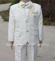 new white tuxedo boy's formal suit  2 4 6 8 10 12 14  free shipped sets :jacket +shirt +pants +bowtie+ belt