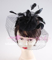 Freeshipping wholesale/ fashion feather fascinators/ fascinator hat /bridal veils/hair accessories/ FF661