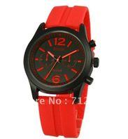 Free shipping New Fashion Mens Silicone/Rubber Sport Jelly Quartz Wrist Watch Hot sale