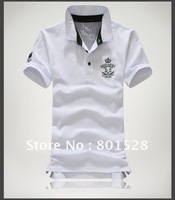Kingtime Freeshipping New  Style Men's Polo Shirts,Embroidery Design,Short -Sleeved  100% Cotton Shirt KTF14 Asian size
