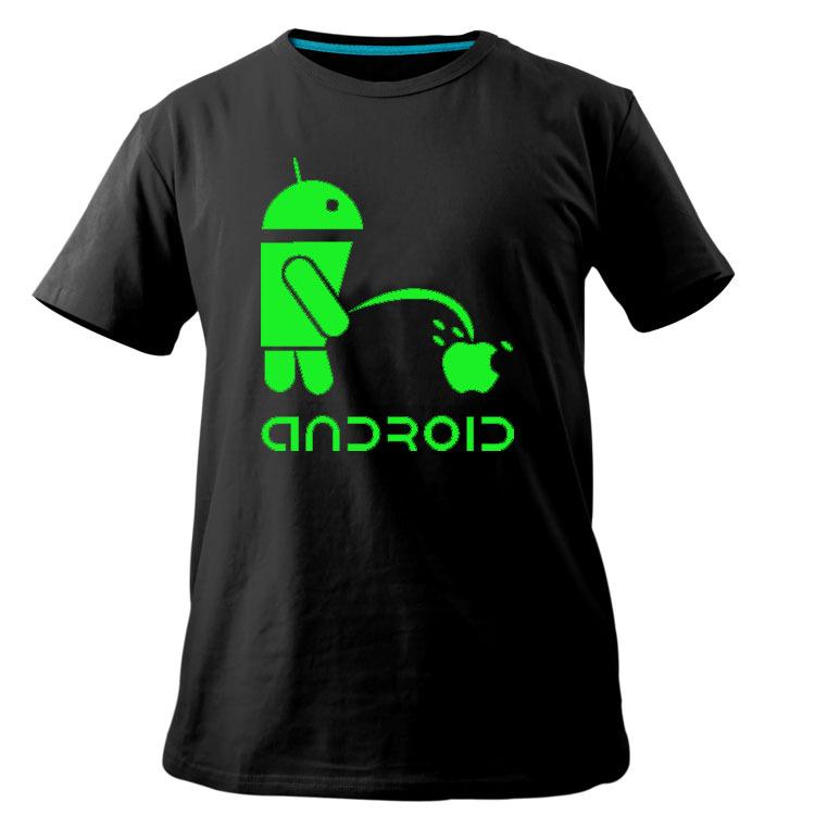 2013 men shirt Android logo sales promotion luminous T-shirt short tee