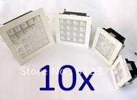 Wholesale 4x1w/9x1w/25x1w led ceiling light high lumen lamp 2years warranty square shell spot lighting lamp white/warm white