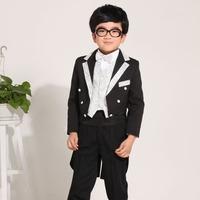 Free shipping Black Children Tuxedo set for wedding