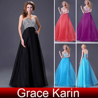 2014 Hot Sale Grace Karin Beaded Sweetheart A-line Prom Gown Party Dresses Floor Length Formal Evening Dress CL3107