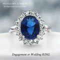 Free Shipping Neoglory Princess Kate Fashion Adjustable Rings Zircon Alloy Platinum Plated Party Jewelry Gift For Women Wedding