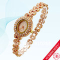 EB 2013 Hot Sales Fashion Elegant Yellow Gold Round Shape Small Crystal Rhinestone Ladies GF Sparkling Square Quartz watches