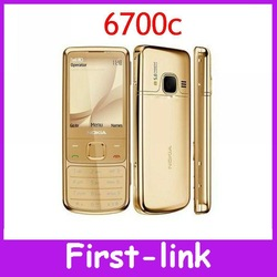 12 months warranty Original Nokia 6700 Classic Gold Cell Phone Unlocked GPS 5MP 6700c Russian Keyboard Free Shipping(China (Mainland))