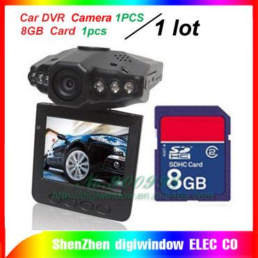 H198 Car DVR Camera 1PCS + 8GB card 1pcs =1 lot 2 different ProductS free shipping
