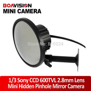 2.8mm Wide angle CCD 600TVL Hidden Camera CCTV SECURITY MIRROR MINI CAMERA
