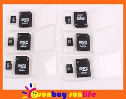FREE SHIPPING 1GB/2GB/4GB/8GB/16GB/32GB Micro SD SDHC Memory Card + Adapter - Camera - Mobile - Tablet Android(China (Mainland))