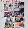 50pcs/lot Justin Bieber Case For Ipod Touch 4, One Direction Hard Back Case For Ipod Touch 4 Touch4 DHL Free Shipping