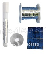 40 pcs17.6% efficiency  52x38mm solar cell poly crystalline solar panel DIY Kit value pack with 50'tab wire+6'bus wire+flux pen#