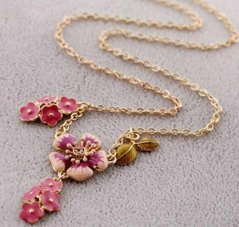 Super Price Fashion Pendant Flower /Necklace Rhinestone European Style High Quality Free Shipping(China (Mainland))