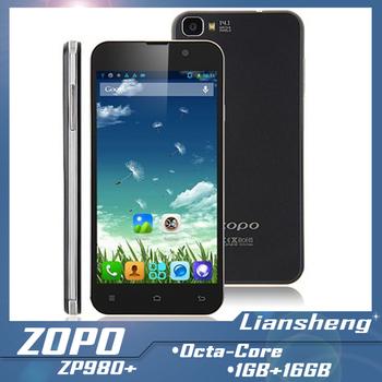 ZOPO ZP980+ 1GB RAM 16GB ROM 5.0 Inch MTK6592 Octa core 1.7Ghz  Android 4.3 Wifi GPS WCDMA unlocked Smart phone