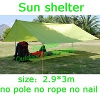 Freeshipping 1pc  High quality outdoor sun shelter sun shade waterproof camping cushion survival shelter (2.9m*3m)