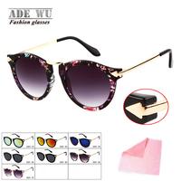 Fashion Retro Oval Frame Sunglasses Women Good Quality Vintage Sun Glasses Female Color Mix gafas Brand Designer