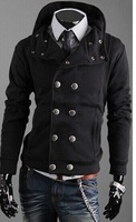 new 2014 sport suit men brand hoodies men cardigan tracksuits Fashion Double Buttons sportswear desigual male suit oculos coat