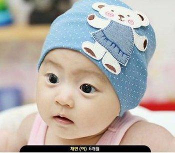 10PCS/lot cute bear kid hats baby cap Cotton Beanie Boy Girl baby Hat