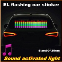 90CM*25CM Car Music rhythm lamp led sound activated equalizer Multi color flashing Music  lamp free shipping