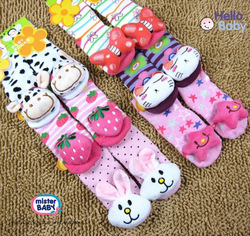 12 design size 0-4 New style Baby Anti-slip Walking Socks Children's Stockings baby sock kid gift 6 pair/lot(China (Mainland))