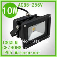 10W LED floodlight IP65 waterproof 110V/220V/240V black shell floodlighting light color red green blue warm white cool white