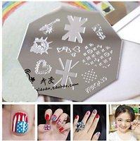 Nail Art Stamping Image  Plate  Template    American flag    QA39 10pcs/lot   QA stamping plate