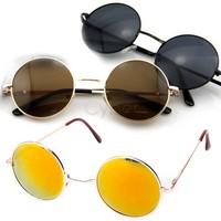 Free Shipping 10pcs/Lot Retro Vintage Round Frame Lens Sunglasses Eyeglasses Tortoise New