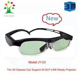 2pcs /lot Hottest! Free shipping DLP link projector 3D Active Shutter Glasses for Acer,BenQ,Dell,Optoma,ViewSonic(China (Mainland))