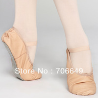 Dttrol children's straight Full-Sole Genuine pig Leather soft Ballet shoes dance slipper D006182