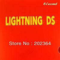 61second Lightning DS (NON-TACKY), Softer / lighter, NEW brand, free shipping, pips in table tennis rubber,red
