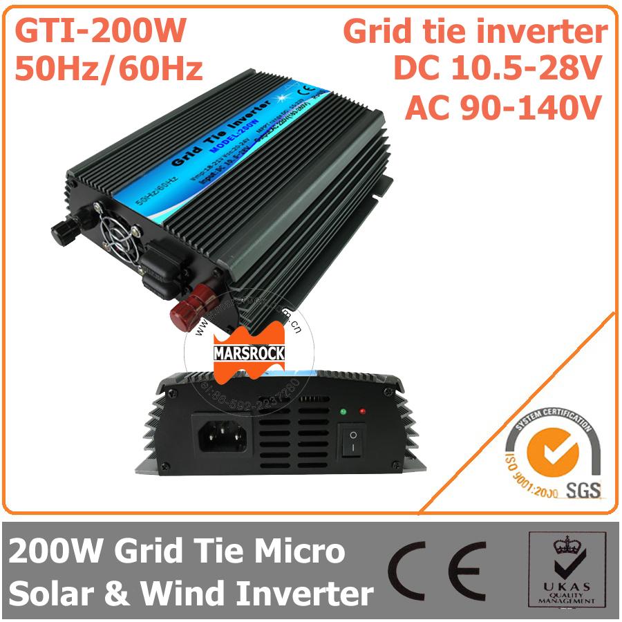 Инверторы и Преобразователи MARSROCK 200W 18 , 10,5 28 DC AC 90 140V GTI-200W