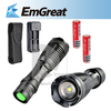 UltraFire 12W 1800 Lm CREE XM-L T6 Focus Adjust Zoom Led mini Flashlight Torch(2*18650 Charger +Holster ) Free Shipping