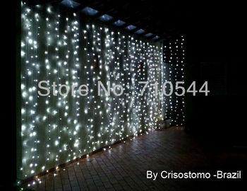 Free Shipping,8M X 3M (26*10ft) ,800 Led Curtain lights String Wedding Xmas Party Factory Outlet,AU/EU/UK/US Plug 110/220V