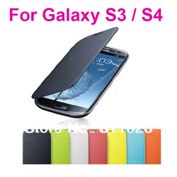 Back cover flip leather case battery housing case for Samsung Galaxy S3 i9300,1pcs/lot,free screen protector+stylue+ shipping(China (Mainland))