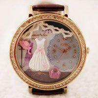 Handmade POLYMER CLAY Korea Mini Diamond Dress Women Watch,Hot Selling -Romantic Wedding 2