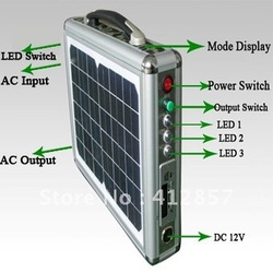10w Portable Photovoltaic Mini Solar Power System + Suitcase Shape + Ultrathin + LED lighting + Radio Music Function(China (Mainland))