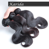 karida hair,Unprocessed Malaysian virgin hair body wave,,100% human hair extenson,3pcs/Lot,DHL free shipping.