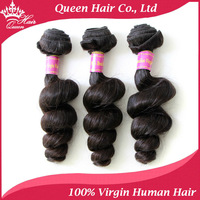 "Queen Hair Products Brazilian Loose Wave Virgin Hair Brazilian Hair Weft Unprocessed Human Hair Extension 12""-28"" 6A 3pcs/Lot"
