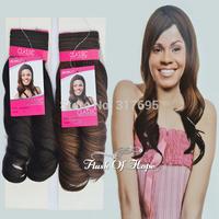 "5A Quality Noble Classic Paradise Curl Synthetic Hair Weaving Romance Curl Synthetic Hair Extensions 14""  Color F4/327 #1B #2"